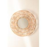 Ronde wandspiegel in rotan (Ø60 cm) Corent, miniatuur afbeelding 3