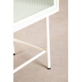 Verticaal dressoir van metaal en glas, miniatuur afbeelding 6