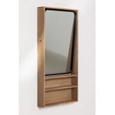 Quhe Rechthoekige wandspiegel met planken in MDF (96x46 cm), miniatuur afbeelding 2