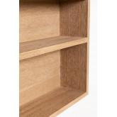 Quhe Rechthoekige wandspiegel met planken in MDF (96x46 cm), miniatuur afbeelding 5