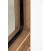 Quhe Rechthoekige wandspiegel met planken in MDF (96x46 cm), miniatuur afbeelding 6