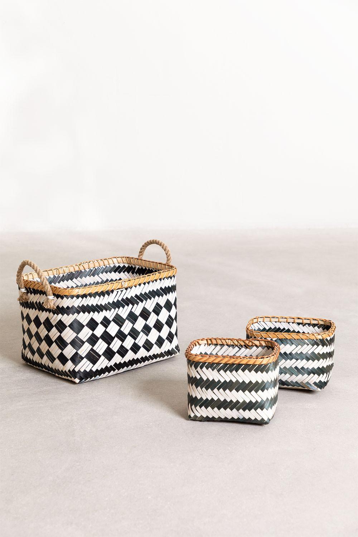 Set van 3 Thais Baskets, galerij beeld 1
