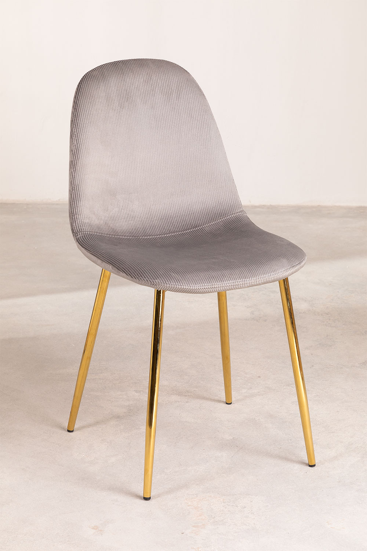 Pack 4 stoelen in Corduroy Glamm, galerij beeld 1