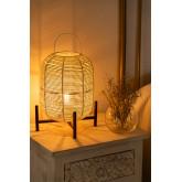 Damien rieten tafellamp , miniatuur afbeelding 2