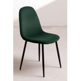 Set 4 fluwelen stoelen Glamm, miniatuur afbeelding 2