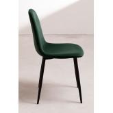 Set 4 fluwelen stoelen Glamm, miniatuur afbeelding 3
