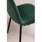 Set 4 fluwelen stoelen Glamm, miniatuur afbeelding 4
