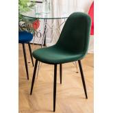 Set 4 fluwelen stoelen Glamm, miniatuur afbeelding 1