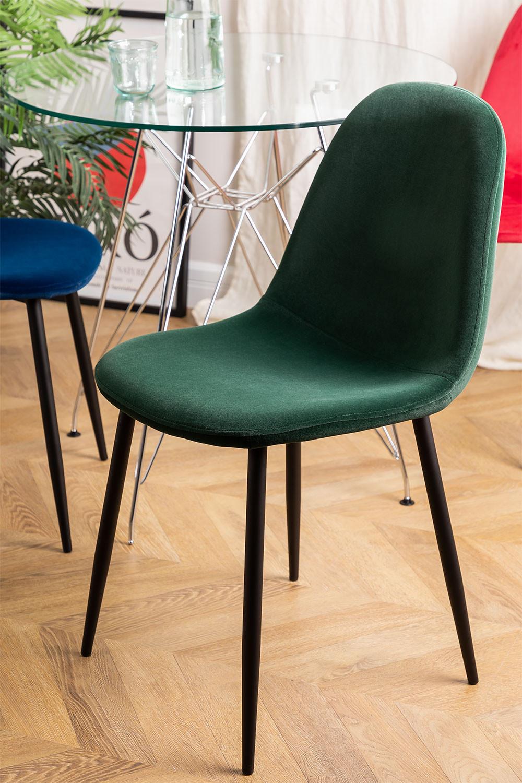 Set 4 fluwelen stoelen Glamm, galerij beeld 1