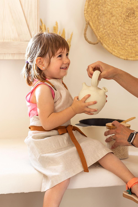 Linnen en katoenen schort Zacari Kids, galerij beeld 1