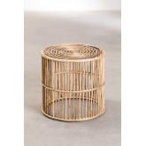 Ronde Qamish Bamboe Bijzettafel, miniatuur afbeelding 1