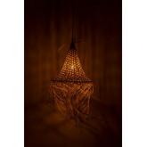 Plafondlamp in rotan (Ø40 cm) Karab, miniatuur afbeelding 4