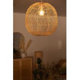 Plafondlamp in rotan (Ø50 cm) Api, miniatuur afbeelding 2
