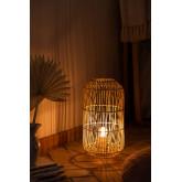 Tafellamp in rotan Api , miniatuur afbeelding 2