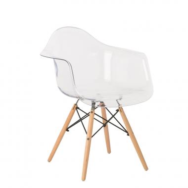 IMS transparante stoel met armleuningen