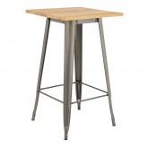 LIX houten hoge tafel geborsteld staal, miniatuur afbeelding 1
