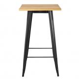 LIX Vintage houten hoge tafel , miniatuur afbeelding 2