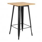 LIX Vintage houten hoge tafel , miniatuur afbeelding 1