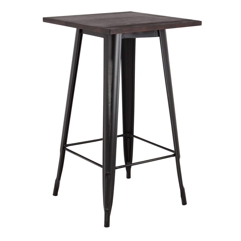 LIX Vintage houten hoge tafel , galerij beeld 1