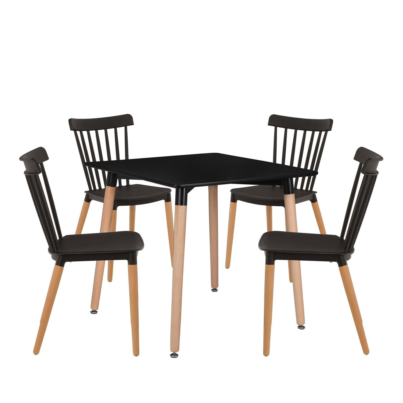 Royal tafelset (80x80) & 4 Royal stoelen, galerij beeld 1