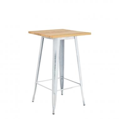 LIX Vintage houten hoge tafel