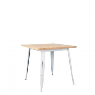 LIX Vintage houten tafel (80x80)