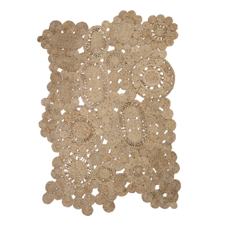 Vloerkleed van natuurlijk jute (205x130 cm) Syrah, galerij beeld 1