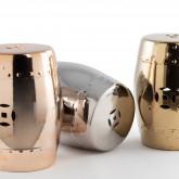 Edal metallic keramische lage decoratieve kruk, miniatuur afbeelding 4