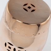 Edal metallic keramische lage decoratieve kruk, miniatuur afbeelding 3