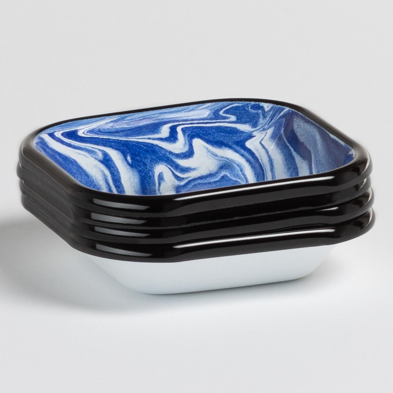 Pack van 4 vierkante borden Bleh by Bornn, galerij beeld 1