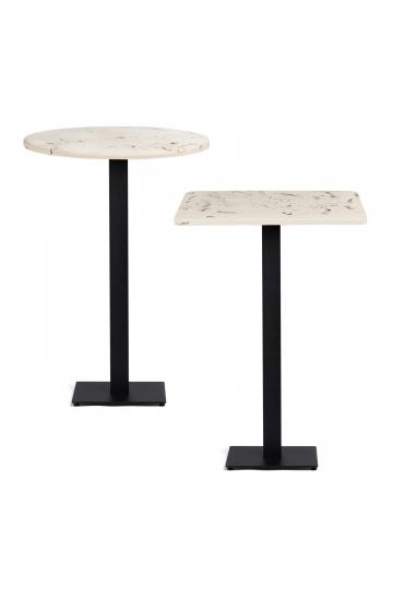 Chick hoge tafel van cement met marmeren afwerking