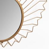 Metalen wandspiegel (61,5x61 cm) Bïggy, miniatuur afbeelding 4