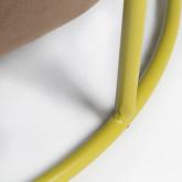 Fluwelen voetenbank Laur L, miniatuur afbeelding 4
