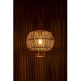 Amaris gevlochten plafondlamp van papier, miniatuur afbeelding 4
