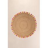 Rond vloerkleed van natuurlijke jute (Ø157 cm) Shocks, miniatuur afbeelding 2