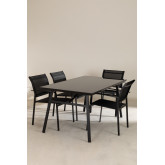 Nohes-tafelset en 4 Nohes-stoelen, miniatuur afbeelding 1