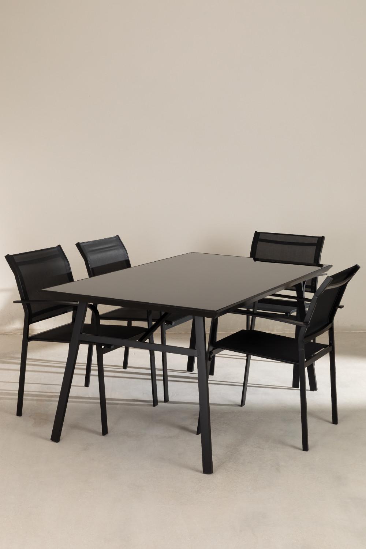 Nohes-tafelset en 4 Nohes-stoelen, galerij beeld 1