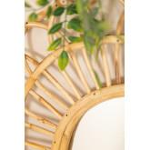 Ovale rotan wandspiegel (60,5x51,5 cm) Zaan, miniatuur afbeelding 2