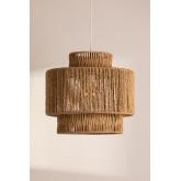 Kena plafondlamp van gevlochten papier, miniatuur afbeelding 1