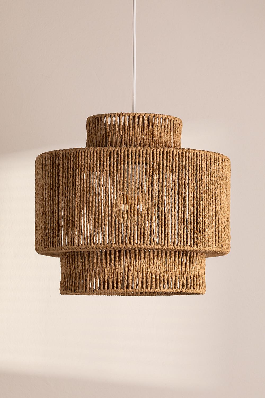 Kena plafondlamp van gevlochten papier, galerij beeld 1