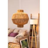 Amaris gevlochten plafondlamp van papier, miniatuur afbeelding 1