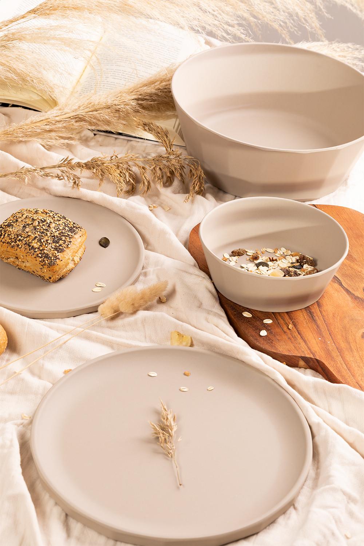 Scott Pack van 4 kleine bamboe borden, galerij beeld 1