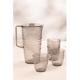 Set van 1 kan 2L en 4 Brandon-glazen, miniatuur afbeelding 2