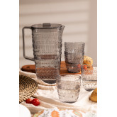 Set van 1 kan 2L en 4 Brandon-glazen, miniatuur afbeelding 1