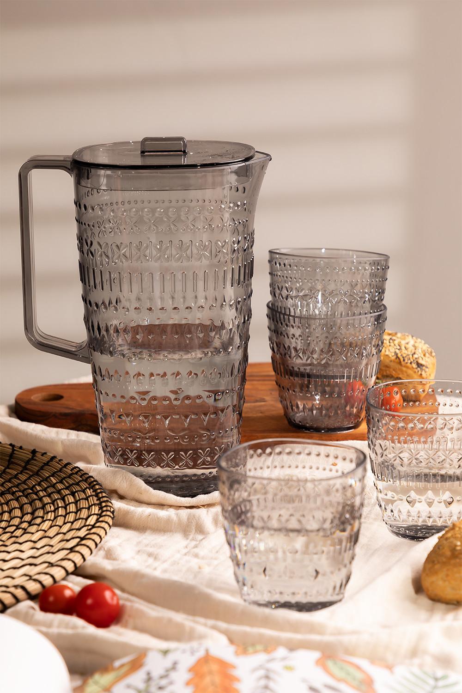 Set van 1 kan 2L en 4 Brandon-glazen, galerij beeld 1