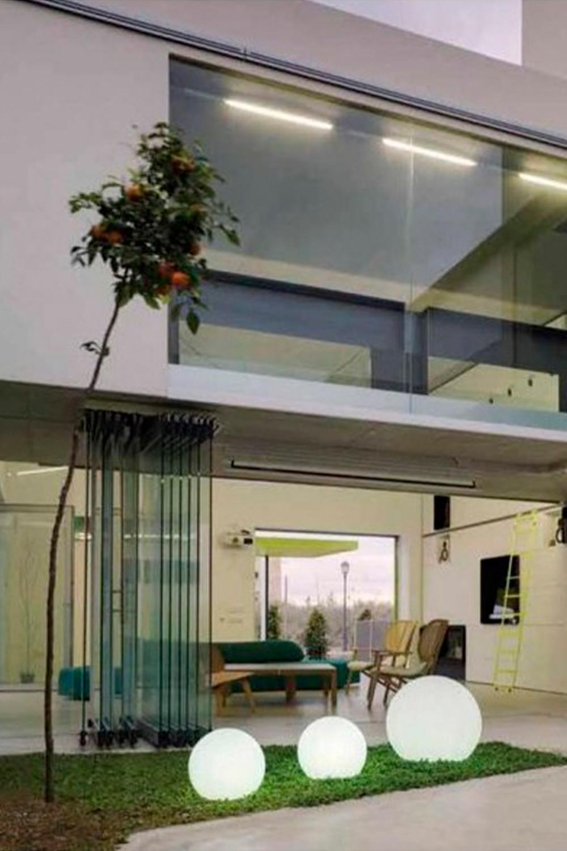Vloerlamp op zonne-energie (Ø25 cm) Bol, galerij beeld 1