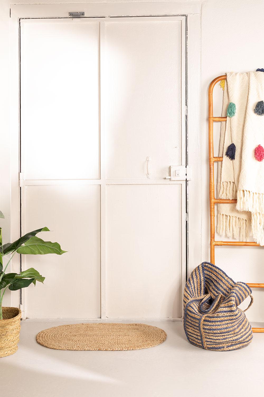 Ovale natuurlijke jute deurmat (73x46 cm) nooit, galerij beeld 1