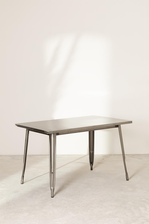 LIX tafel geborsteld staal (120x80 cm), galerij beeld 1