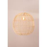 Plafondlamp in rotan (Ø50 cm) Api, miniatuur afbeelding 4