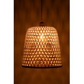Plafondlamp in rotan (Ø30 cm) Kalde, miniatuur afbeelding 5